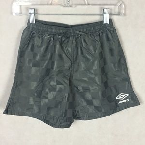 Umbro Squared Damier Soccer Shorts Gray Size Small